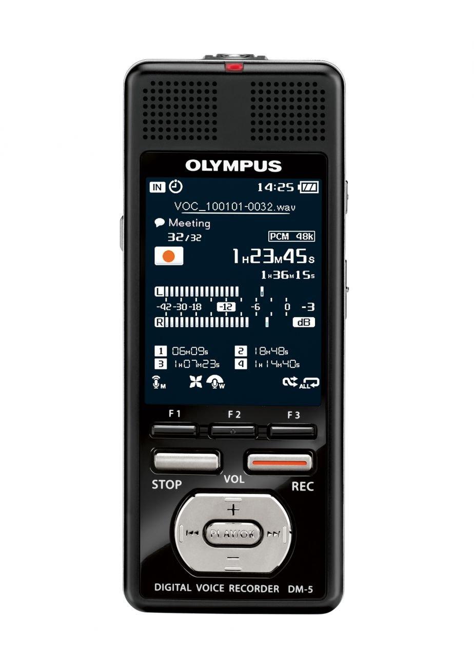 Olympus DM-5 Ses Kayıt Cihazı 8GB, 2043 saat, microSD