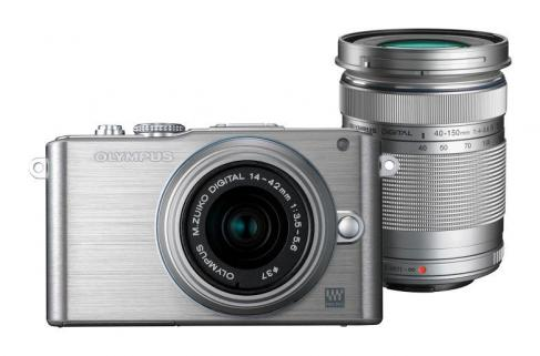 Olympus PEN E-PL3 Double Zoom Kit (Gümüş)